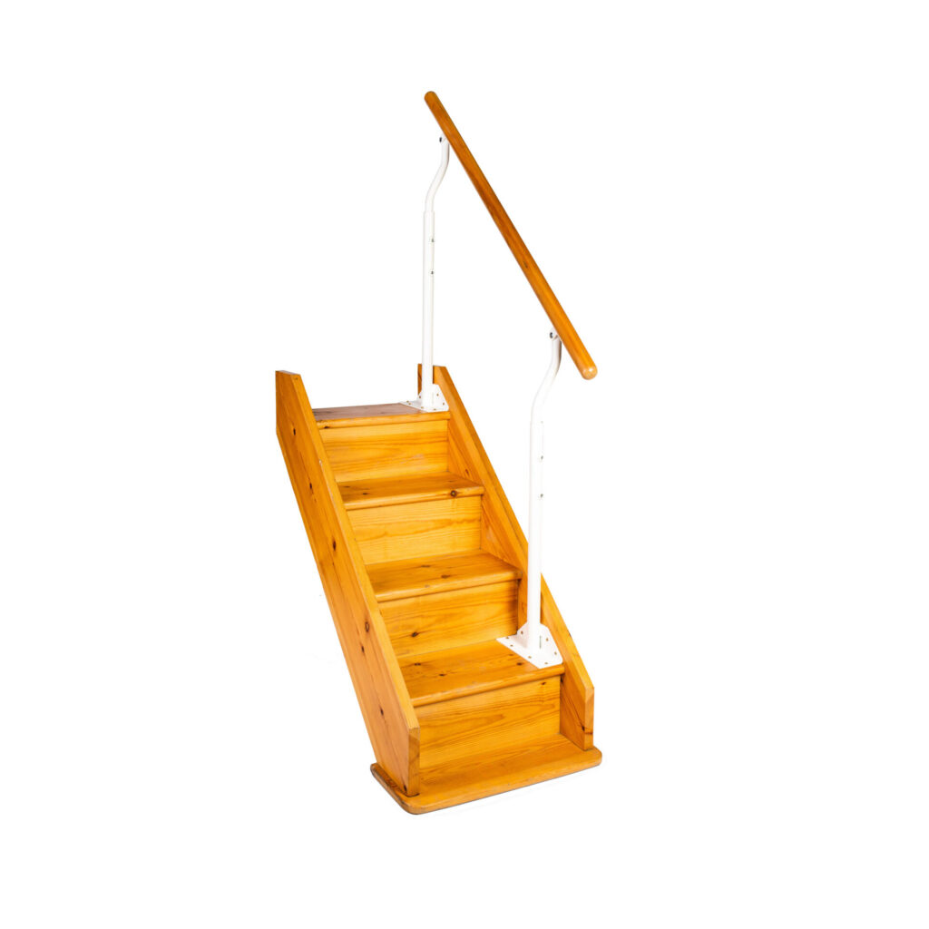 Stair rail supports